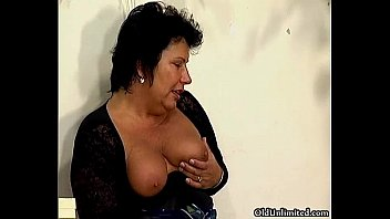 mature cock thick Lesbos rub spit covered tits together