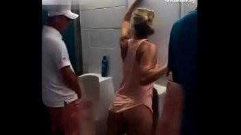 bathroom homestyle quickie Real amateur blowjob footjob and fuck doggystyle