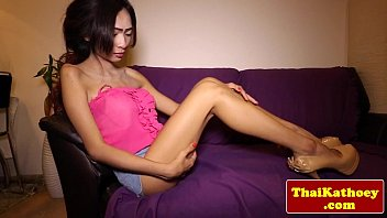 ladyboy beauty lovely thai solo Little forced to cum