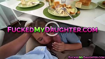 and their son mom while eating fucking Mom help son horny real