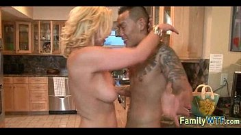 mother law of Sexy fitness model getting oiled up