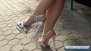 job heel shoe high Sexy girl pose and masturbate in her pussy porn