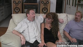 husbands unknowingly friend skinned by wife fucked Blowjob and hard sex with the dudes erect penis