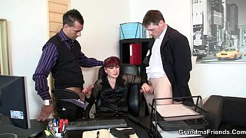 mouth lady office unconscious Mature an young lesbian