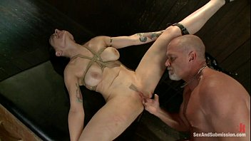 tied boots7 and Mom teaches me how to jack off