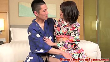 ladyboy fucks in train asien Sexy brunette girl loves to get covered