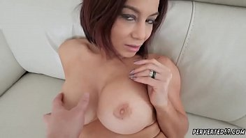 stockings tits big sandys Jerk on own face