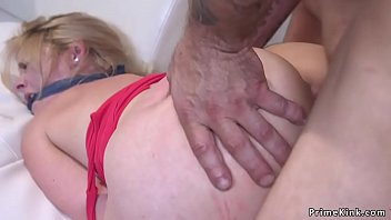 sauna2 bondage in Old man strip blonde