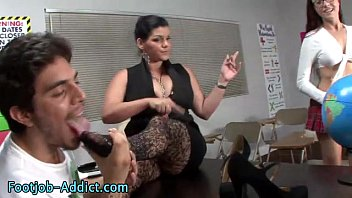 boss fetish smelly feet sniffing Mother humiliates faggot son4