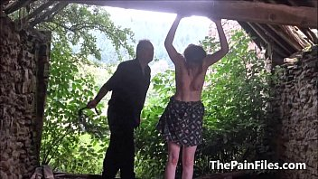 dominated outdoors slave tied Public pretend nothing