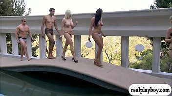 caught wanking naked and First threesome blowjob
