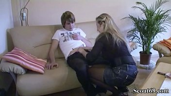 mom anal german Sneek condom off creampie