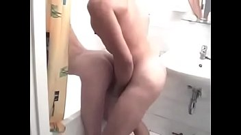video sax hot Brunette gets creampie in shower