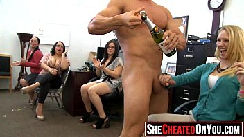 back stripper stage cfnm Surrounded by cocks