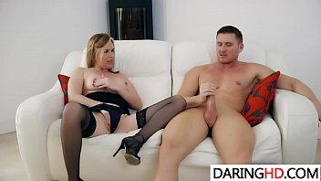 a cock fucked blonde gets by young milf Daugther wakes up dad