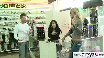 leather girl in full White wife cheating with black man